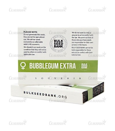 Семена марихуаны Bubblegum Extra  в оригинальной упаковке